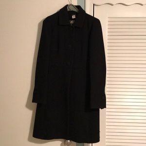 J. Crew black collar coat
